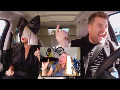 Sia Carpool Reaction/Singing and she is VEGAN!