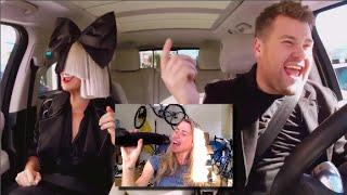 Sia Carpool Reaction/Singing and she is VEGAN!