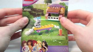 Building Lego Friends Series 2 Set #41022 Bunny's Hutch
