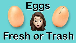 GOOD EGG OR BAD EGG?  How to Tell if Eggs are Fresh