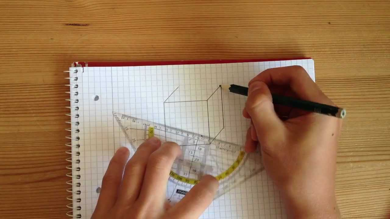 dreidimensionalen k rper zeichnen geometrische k rper youtube. Black Bedroom Furniture Sets. Home Design Ideas