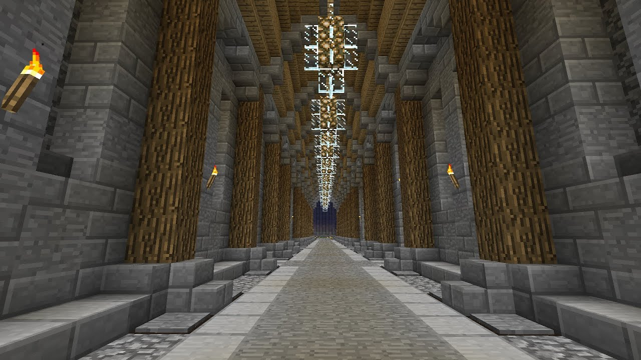 Minecraft Decorative Hallway Tutorial Youtube