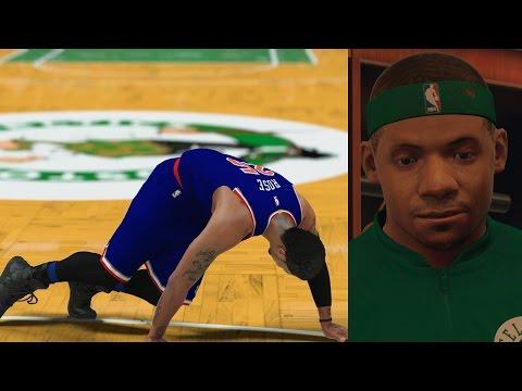 NBA 2K17 PS4 My Career - Derrick Rose Injured!