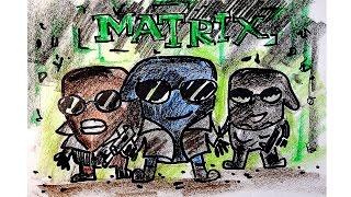 MATRIX троица Нео, Морфей и Тринити как Король Воров / видео урок рисования для детей