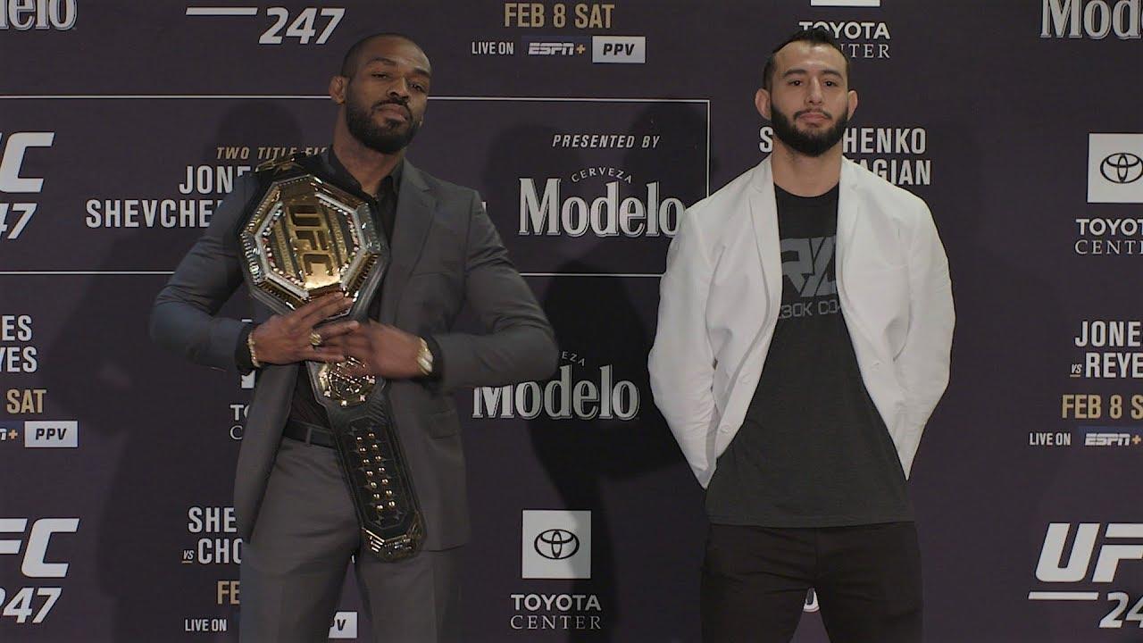 Битва взглядов участников турнира UFC 247