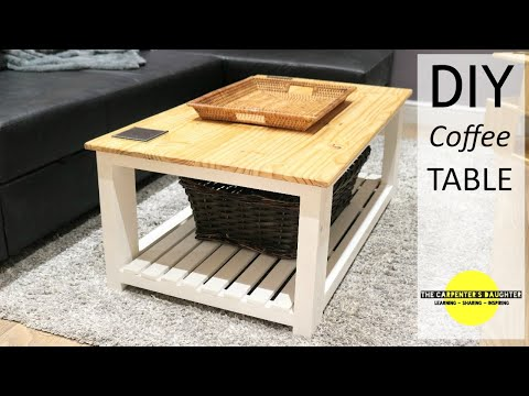 DIY Farmhouse Coffee Table | The Carpenter's Daughter