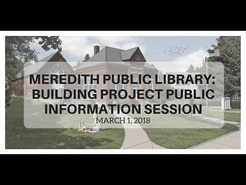 Meredith Public Library Expansion Project