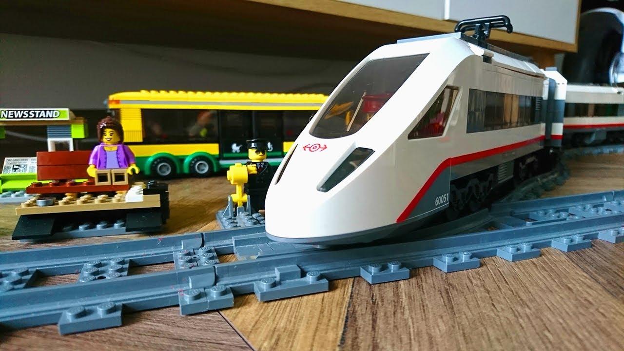 Szybki Pociąg I Stacje Kolejowe Lego City 60051 Youtube