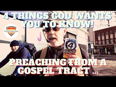 4 Things God Wants YOU to Know: Preaching from a Simple Gospel Tract (in Swansea City Centre, Wales)