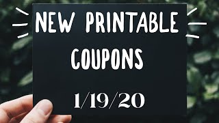 New Printable Coupons! Instant Coupon UPDATE