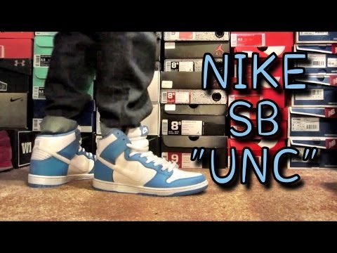 399c970c473047 Nike SB Dunk High UNC Rival Review   On Feet - YouTube