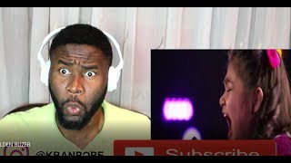 """Angelica Hale: gets GOLDEN BUZZER after burning down AGT with """"GIRL ON FIRE""""   REACTION"""