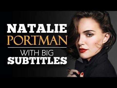LEARN ENGLISH   NATALIE PORTMAN: Don't Doubt Yourself (English Subtitles)