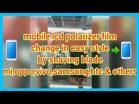 how to change (replace) lcd screen polarizer film & clean glue without machine in easy way
