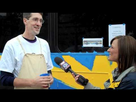 Metro Art Bus Painting for Society of the Blind & Visually Impaired (With Steve Edwards)