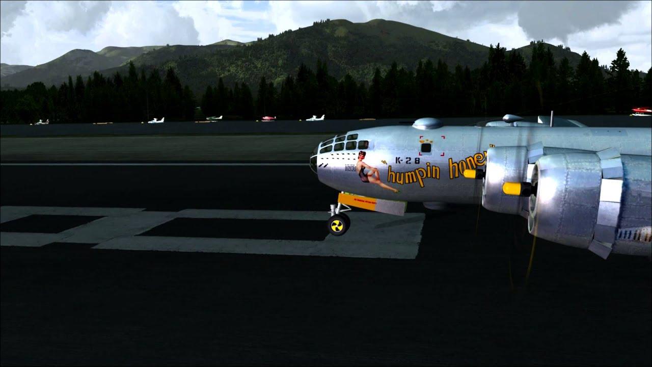 Virtavia B-29 'humpin honey' FSX DX10 repaint ORBX Scenery!