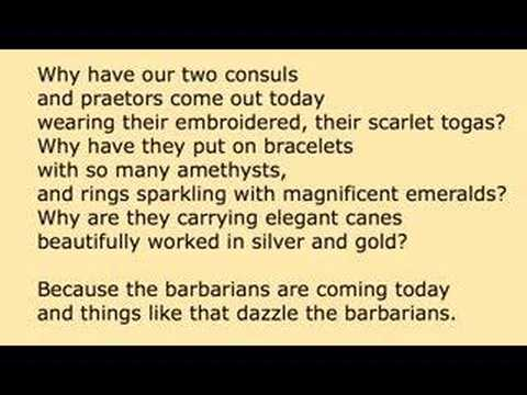 CAVAFY: Waiting for the Barbarians