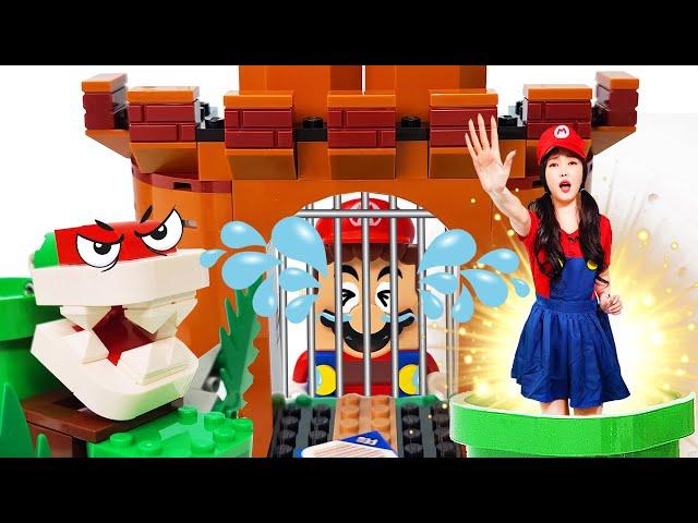 슈퍼마리오가 감옥에 갇혔어요! 마리오 구하러 레고 세상으로 GO GO! LEGO Super Mario Real game