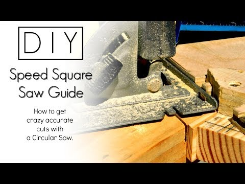 DIY - Crazy Accurate Cuts | Speed Square Saw Guide | Izzy Swan