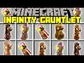 Minecraft INFINITY GAUNTLET MOD! l CRAFT INFINITY GAUNTLET TO BATTLE THANOS! l Modded Mini-Game