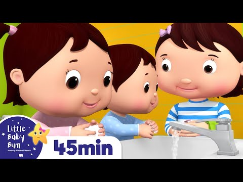 Wash Your Hands Song Part 2 | + More Nursery Rhymes & Kids Songs | Songs for Kids | Little Baby Bum