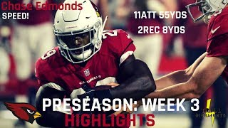 Chase Edmonds Preseason Week 3 Highlights | DJ Handcuff 08.26.2018