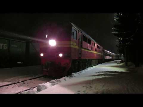 Прибытие костомукшского поезда на ст. Сортавала
