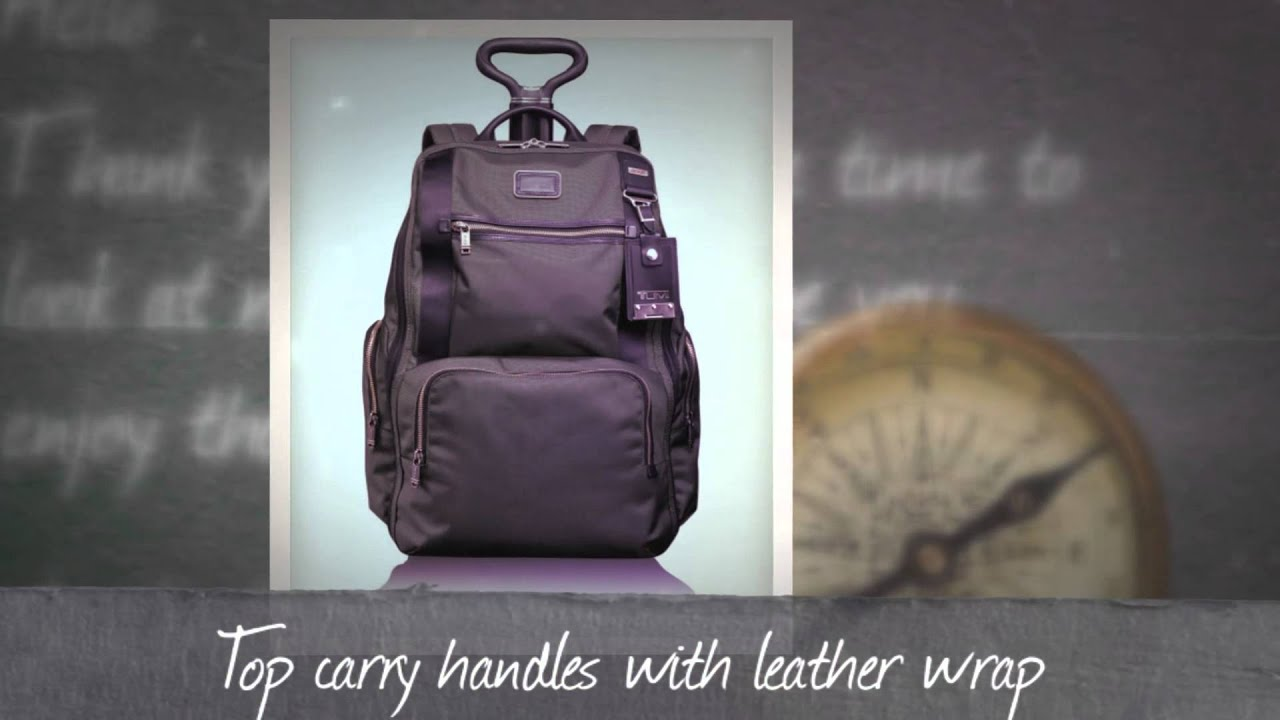 Tumi Alpha Bravo Lemoore Wheeled Backpack - YouTube
