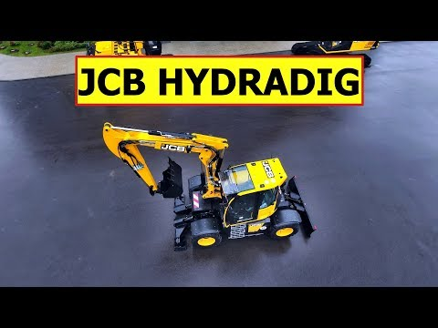 JCB HYDRADIG 110W — обзор уникального колёсного экскаватора