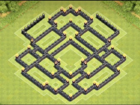 *Clash Of Clans* Town Hall 8 TROPHY BASE! (Best Cup Hunting Base For TH8)