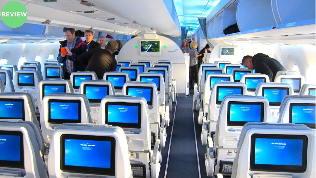 BRIGHT FINNAIR A350 Economy Class Review | Helsinki to Gothenburg ...