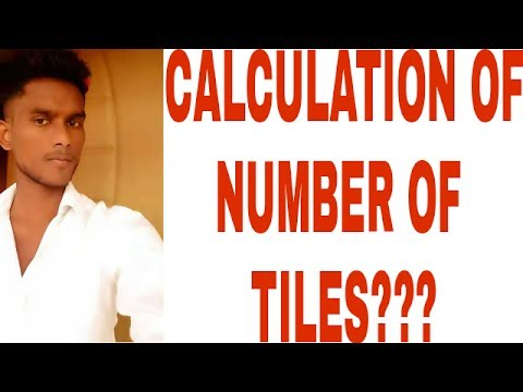 CIVIL ENGINEERING IN TAMIL - HOW TO CALCULATE THE NUMBER OF TILES ??????
