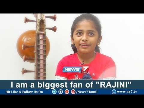 "I am a biggest fan of ""RAJINI"": Singer Praniti 