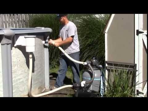 Eliminator Above Ground Winter Pool Cover Installation (2014) - From Pool Supplies Canada.ca