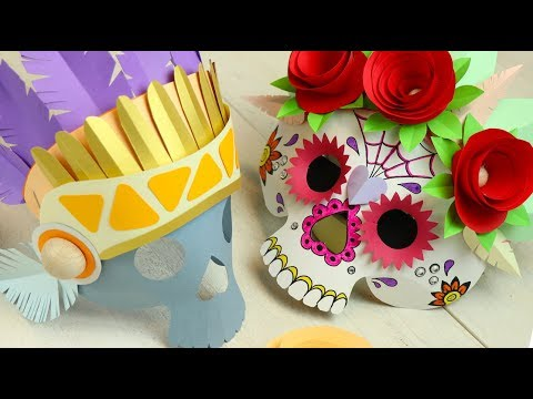 how to make paper mask for party and halloween
