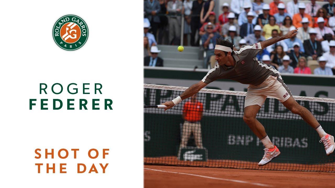 535d0f72 Shot of the Day #9 - Roger Federer | Roland-Garros 2019 - YouTube