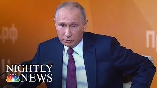 Vladimir Putin Praises Donald Trump, Dismisses Russia Collusion Claims | NBC Nightly News