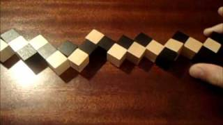 How to solve a Snake Cube (new version in description)