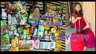 After holidays going to hostel  Hostel packing after Reopens college  Day to day life products