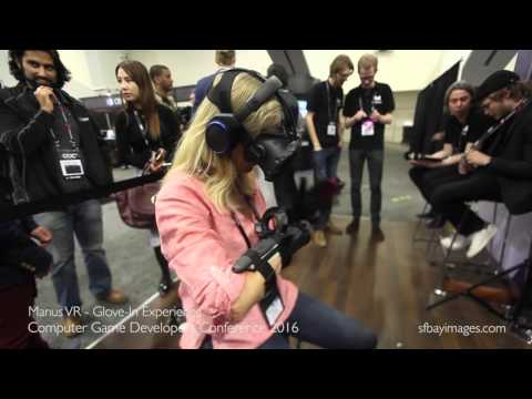 "Virtual Reality - Manus VR Gloves Demo, CGDC - ""Data Gloves"""