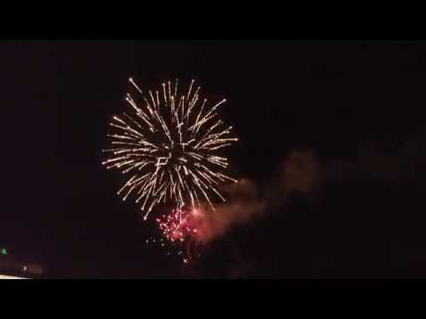 Suriname New Year Fireworks Show At Riviera Casino - 2018-01-01 - Part 1