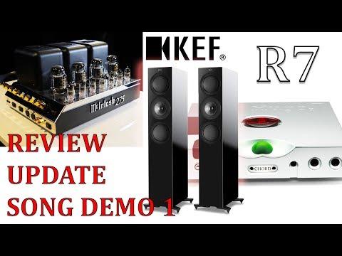 KEF R7 HiFi Speakers REVIEW Update McIntosh MC275  Valve amp Chord Hugo TT2 + Song Demo 1