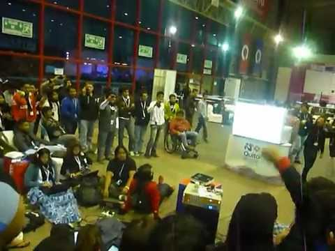 Campus party Quito 2012 - Karaoke Digimon