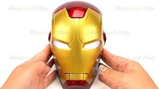 Disney Iron Man Head Surprise Toys and Learn Colors Play Doh Balls