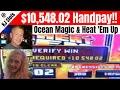 MASSIVE Progressive Handpay! Ocean Magic Huge Win & Heat Em Up Power Wheel Progressive Jackpot Win