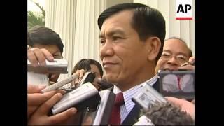 Yudhyono, Thai, Myanmar FMs  comment, Annan arrives