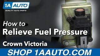 How to Relieve Fuel System Pressure Prime Vehicle Ford Crown Victoria
