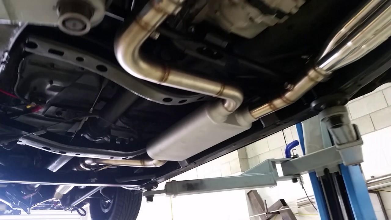bagged nissan navara hardbody underside and exhaust [ 1280 x 720 Pixel ]