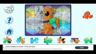 Cute Dog Jigsaw Puzzle Video For Kids Apps Gameplay