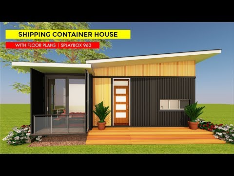 Shipping Container 2 Bedroom Bungalow House Design with Floor Plans | SPLAYBOX 960